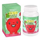 BjökoVit ZINK Kinder Kautabletten - 120 Kautabletten mit Zink - Zuckerfreie Tabletten mit leckerem Kirsch-Geschmack für Kids