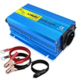 Cantonape 600W Wechselrichter Reiner Sinus Spannungswandler 12V auf 230V Power Inverter mit USB-Anschluss für Laptop, Kamera, Smartphone