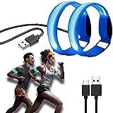 Enzeno Led Armband Aufladbar, 2 STK Leuchtarmband USB Reflektorband Reflective Band Led Armbänder Leuchtband Kinder Reflektorbänder für Joggen Laufen Sport