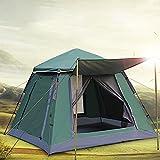 Zelte Automatisches Campingzelt Für 4-5 Personen Schnellöffnungszelt Im Freien 3-Jahreszeiten-Doppelschicht-wasserdichtes Familienfestzelt 215 * 215 * 165cm