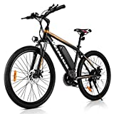 VIVI 26 Zoll Elektro-Mountainbike, 250W Motor 36V 10.4AH Abnehmbare Batterie Elektrofahrrad für Erwachsene (Orange)
