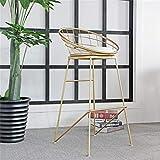 MAMINGBO Barhocker Industrieküchentheke Hocker mit PU Sitz - Hohe Küche Gold-Esszimmerstuhl |Pub |CAF (Größe : Seat Height:65cm)