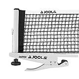 JOOLA Tischtennisnetz Snapper-Indoor Garnitur Freizeitsport Höhenverstellbar mit Feststellschraube - Klemmtechnik, silber/schwarz, one size