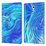 Head Case Designs Offiziell Zugelassen Suzan Lind Tiefes Blau Tie Dye 2 Leder Brieftaschen Handyhülle Hülle Huelle kompatibel mit Galaxy Tab S4 10.5 (2018)