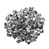 Varadyle 100 Stueck 10 x 10 mm Pyramidennieten Pyramiden Nieten Ziernieten Gothic Punk Basteln DIY Silber