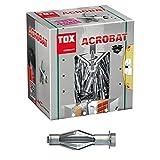 TOX Metall-Hohlraumdübel Acrobat M8 x 68 mm verzinkt, für Befestigungen in Gipskartonplatten, 25 Stück, 035101181