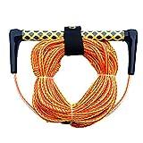XHUENG Nützlich Wasser-Ski Wakeboard Kneeboard Seil for Boating 3-Section Wasserski Wassersport Rope - 15 Zoll Schwimm Griff (Color : Orange)