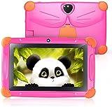 Kinder Tablet, Tablet für Kinder CARRVAS WiFi Android 8.1 GMS Zertifiziertes Kindertablet Vorinstallierte Google Play 7 Zoll Pad Elternsteuerungstabletten mit Kinder Software, Kindersicher (Rosarot)