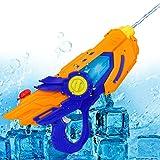 Elektrische Wasserpistole Licht, CestMall Wasserpistole Spielzeug Kunststoff Super Wasserpistolen mit 600ml Kapazität Leistungsstarke 6-10m lange Schießstand Wasser Blaster, Pool Wasser Spaß Spielzeug