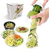 JHCtech Hand-Spiralschneider, 4-in-1 verstellbarer Spiralschneider, robuster Gemüse-Spiralschneider, Pasta-Spaghetti-Maker für Karotten, Obst, Gurken, Kartoffeln, Kürbis, Zucchini, Nudeln