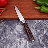 Messer set Küchenmesser Set Professionelle japanische Chef Messer 7CR17 High Carbon Edelstahl Fleisch Santoku Schälmesser küchenmesser (Color : 3.5 Fruit Knife)