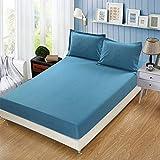 NTtie Matratzenschoner Atmungsaktive Matratzenauflage, ohne Knistern, Einteiliger Hotel-Matratzenbezug in Reiner Farbe