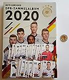 Rewe EM 2020 DFB - Sammelkarten - Album mit Allen 35 Verschiedene Normale Karten + 1 Fußballmünze der WM 2006 - Miroslav Klose
