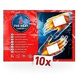 THE HEAT COMPANY Handwärmer - 10 Paar - EXTRA WARM - Taschenwärmer - 12 Stunden warme Hände - sofort einsatzbereit - luftaktiviert - rein natürlich