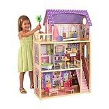 KidKraft 65092 Puppenhaus Kayla aus Holz mit Möbeln und Zubehör, Spielset mit drei Spielebenen für 30 cm große Puppen