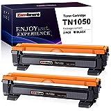 Zam-brero TN1050 Schwarz Tonerkartusche Ersatz für TN-1050 Verwendung für HL-1112 HL-1110 HL-1210W HL-1212W DCP-1610W DCP-1512 DCP-1612W DCP-1510 MFC-1910W MFC-1810 L2710DN (2 Schwarz)
