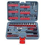 Antrieb Metric Socket Set Quick-Release Ratsche 1/4 Mechaniker-Werkzeug-Set für Autoreparaturen Mechaniker Red 126pcs Hardware-Tools