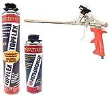 Toolzy 101821 3er Set 1k Pistolenschaum TOPFLEX Reiniger Schaumpistole Schaum Made in Germany