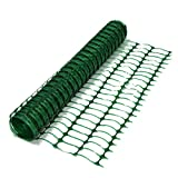True Products B1002A Absperrzaun, 7kg, 50m, aus Kunststoff-Netz, gerollt, Grün