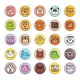 M MORCART Kühlschrankmagnete mit Tiergesicht, klein, lustig, für Kinder, Küche, Zuhause, Schule, Klassenzimmer, Whiteboard, niedlich, dekorativ, 25 Stück