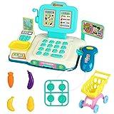 CestMall Kasse Kaufladen Kinder Kasse Spielzeug Scanner Supermarktkasse Registrierkasse Spielkasse für Kinder Jungs, Mädchen, ab 3+
