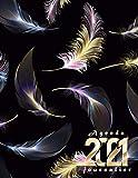 Agenda 2021 journalier: Planificateur 2021 noir grand format (21.59x27.94)cm- une page par jour , 365 jours , avec horaire 08h00 à 20h30 (toutes les ... de janvier a décembre 2021,1 jour = 1page