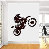 Motocross Wandtattoo Motorradfahrer Racing Poster Vinyl Fenster Aufkleber Künstler Home Decor Teen Schlafzimmer Garage Wallpaper