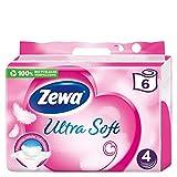 Zewa Toilettenpapier trocken Ultra Soft, Megpack mit 5 x 6 Rollen (je 150 Blatt)