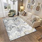 MMHJS Home Nordic Style Wohnzimmer Teppich Einfach Und Atmosphärisch Rechteckig Großer Teppich Weich Und Hautfreundlich 100x150