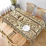 Juliamonroe dekorative Tischdecke, Tischwäsche, Tischtuch, florales Holzschnitzerei, gestreift, für Küche, Esszimmer