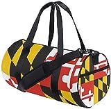 Reisetasche Maryland State Flag Training Reisetasche Runde Reisesporttaschen für Männer Frauen