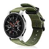 Fintie Armband kompatibel mit Galaxy Watch 3 45mm/Galaxy Watch 46mm/Gear S3 Classic/Frontier/Huawei Watch GT/GT 2/GT 2e/GT2 Pro - Nylon Uhrenarmband Sport Strap verstellbares Ersatzband, Olive