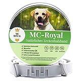 MC-Royal® Zeckenhalsband für Hunde und Katzen - Effektiver Schutz vor Ungeziefern - wasserdicht und verstellbar - bis zu 8 Monate Zeckenschutz mit 100% natürlichen Inhaltsstoffen