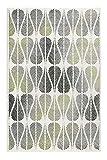 Teppich Grün Grau Creme-Beige Kurzflor für Wohnzimmer Schlafzimmer Flur Esprit Home ZENO (120 x 170 cm)