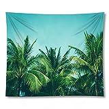 PPOU 3D Tropische Pflanze Blatt Wandteppich Wandbehang Wand Wohnkultur Hintergrund Stoff Wandteppich Decke hängen Stoff A8 130x150
