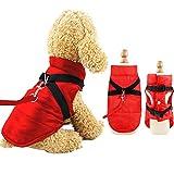 Eastlion Winter Hundemantel Warm Wasserdicht Hundejacke Welpen Hunde Bekleidung Kleidung Weste mit D-Ring,Rot,Größe S