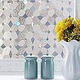3D elektrostatische Glasfolie, Sicht- und UV-Schutz Fensterfolie, geeignet für Badezimmer, Küchen, Geschäfte, Arbeitszimmer B 30x300cm