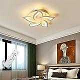 Moderne LED Deckenleuchte Dimmbar mit Fernbedienung, Wohnzimmerlampe Dimming Farbwechsel, Schlafzimmer Deckenlampe , Innenbeleuchtung Deckenbeleuchtung, 40 W, 2400 Lumen, Ø22.8in/58cm