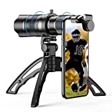 Apexel Zoomobjektiv HD 20-40X mit Stativ, Teleobjektiv, für Handy, für iPhone, Samsung und andere Smartphones, gut für Jagd, Camping, Sp
