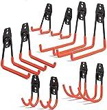 XINGDONG 10 Stück Garagenhaken werden verwendet, um Garagenhaken zum Aufhängen von Fahrradhaken, Haushaltswand, Lagerregale, Mehrzweck-Haken