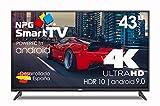 NPG LED-Fernseher, 109 cm (43 Zoll), 4 K, UHD Smart-TV, Android 9.0, HDR WiFi PVR Dolby Digital+