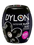 DYLON Intense Black All-in-1 Textilfarbe (350 g), Stofffarbe zum Einfärben und Auffrischen in der Waschmaschine, für frische und intensive Farben