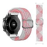 leiai 22mm Armband für Xiaomi Haylou RT LS05S/OnePlus Watch,Nylon Ersatzband Silikonband,Uhrenarmband Armbänder für Yamay Sw022/Imilab Kw66/Ticwatch GTX/CXB01/Polar Grit X /Vantage M/M2 (rosa-weiß)