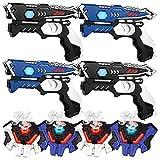 KidsFun Lasertag Set: 2 Laser Pistolen + 2 Laser Tag Weste - Laserpistolen Set für Kinder Ab 6 Jahren