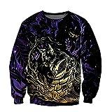 Tier Katze Tattoo 3D Druck Hoodie Mann Frauen Outwear Reißverschluss Pullover Sweatshirt Casual Unisex Gr. XL, 3D-Sweatshirt