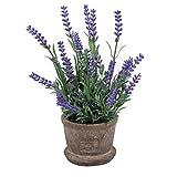 WINOMO Künstliche Blumen Lavendel im Blumentopf für Haus Garten Dekoration