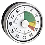 TimeTex Zeitdauer-Uhr'Automatik' Compact - Ampel-Scheibe - mit Magnet - zeigt Restzeit an - Durchmesser 78 mm - läuft ohne Batterien - 61967