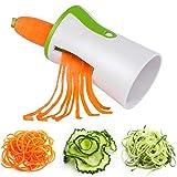 Handheld Spiralizer Gemüseschneider, Spiral Slicer Komplettes Bundle Spiraliser Gemüseschneider Schäler Zucchini Zoodle Pasta Spaghetti Maker Für Kohlenhydratarme / Paläo- / Glutenfreie Mahlzeiten