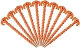Duyifan 10 Stück Zeltnägel Zelt Heringe Nagel Kunststoff - Heringe Kunststoff Schraubhering Erdnagel Gelb Zelthering Gewinde, für Camping Regenplanen Wandern Gartenarbeit Outdoor Strand Caravaning