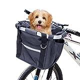 Fahrradkorb Vorne Abnehmbarer Mehrzweck-Korb Fahrrad Vorn Fahrrad Lenker Korb für Haustiere Easy Install Abnehmbare Lenkerkorb Tasche für Kleiner-Hund-Einkaufen-Picknick,Shopping, Pendler, Camping